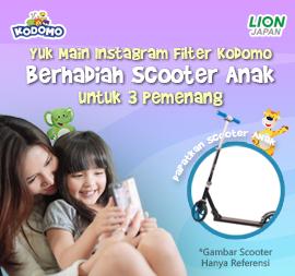 Main Instagram Filter KODOMO Bareng Si Kecil Bisa Dapatkan Scooter