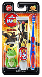Kodomo Toothbrush Kids 6+ 2in1 Orange Mint